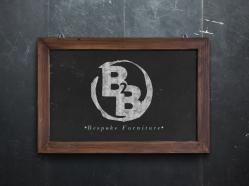 Broke To Bespoke Logo On Chalk Board