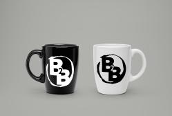 Broke To Bespoke Logo On Mugs